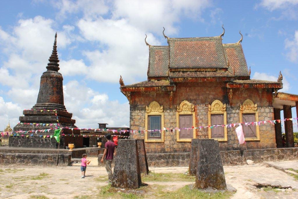 Buddhist temple on Bokor Mountain.